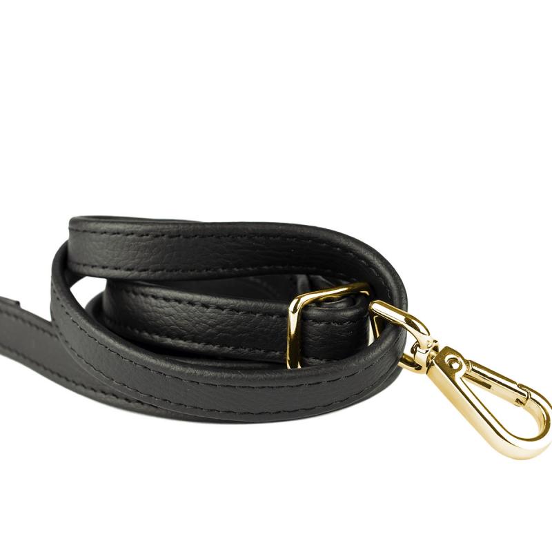 VG black shoulder strap gold