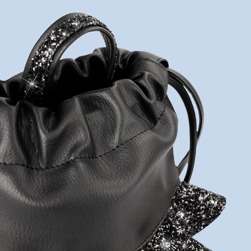 VG Zaino frappa baby glitter nero