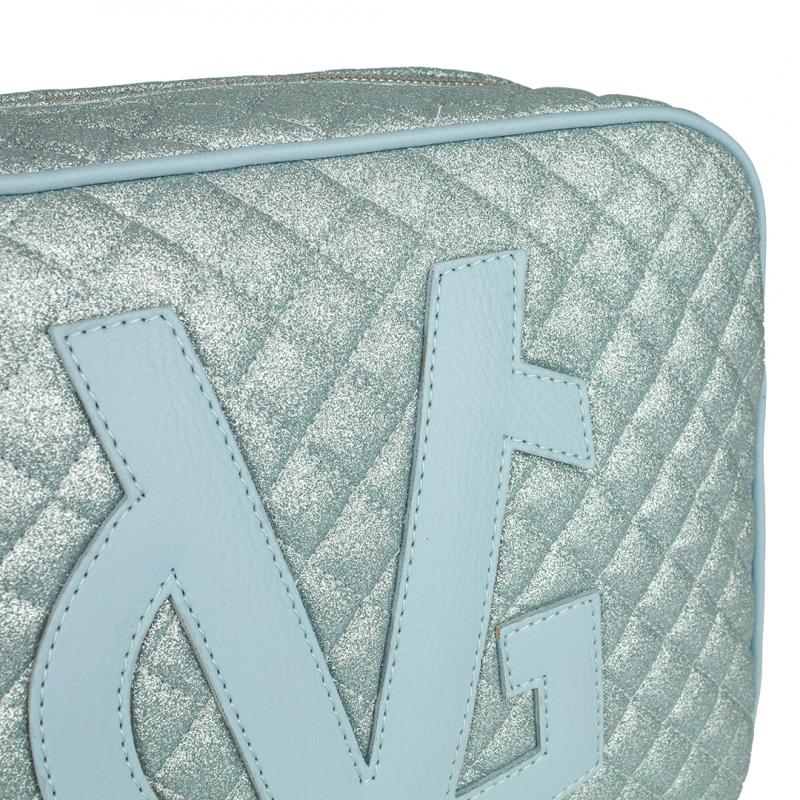 VG grand savon bleu clair matelassé à paillettes fines