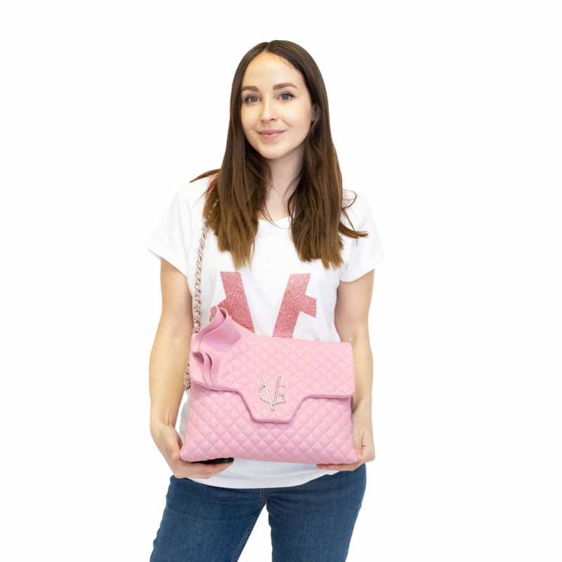 VG Sac bandoulière rouches candy rose