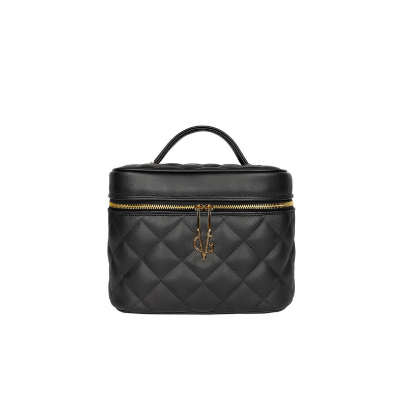 VG black quilted beauty-case