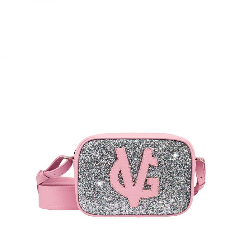 VG Pink shoulder small soap bag & glitter pink unicorn