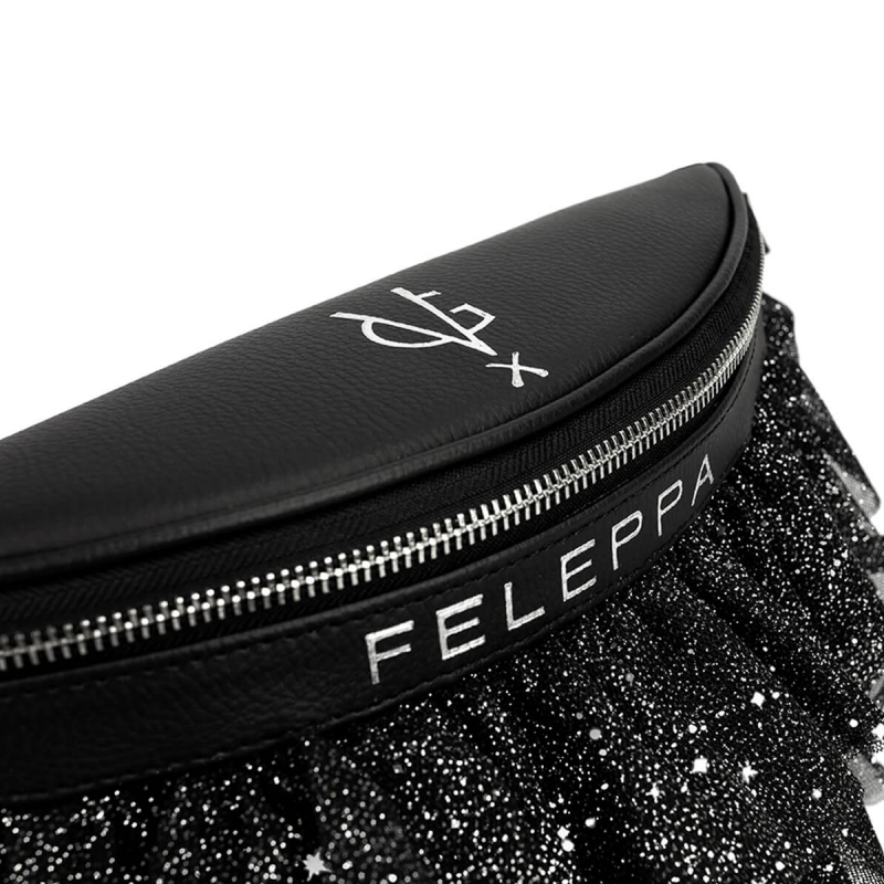 VG x FELEPPA - Black rouches tulle lurex pouch