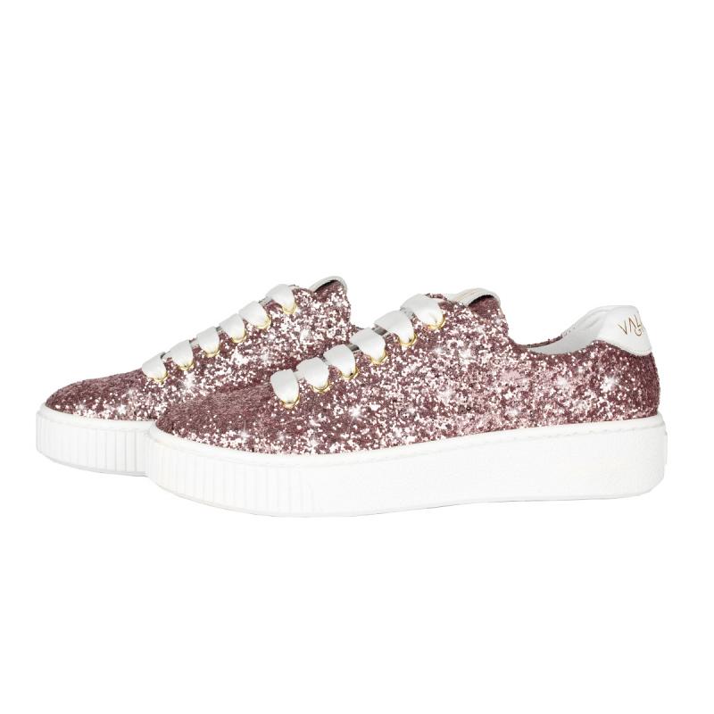 VG Sneakers glitter rosa cipria