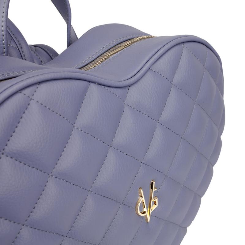 Vg sac à dos coeur matelassé violet
