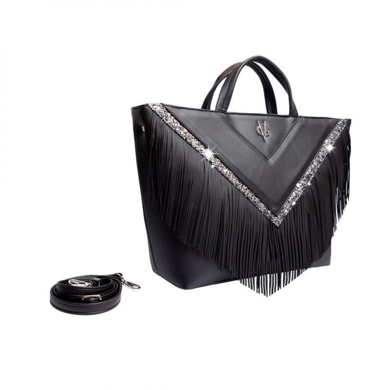 VG30 shopping bag  black fringe