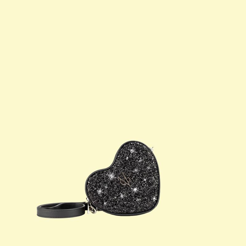 VG cuore baby glitter nero