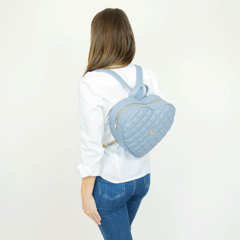 Vg violet heart quilted backpack