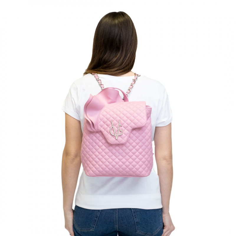 VG ruches backpack in candy pink