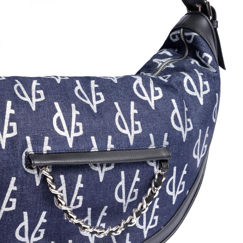 VG Half-moon bag in monogram jeans