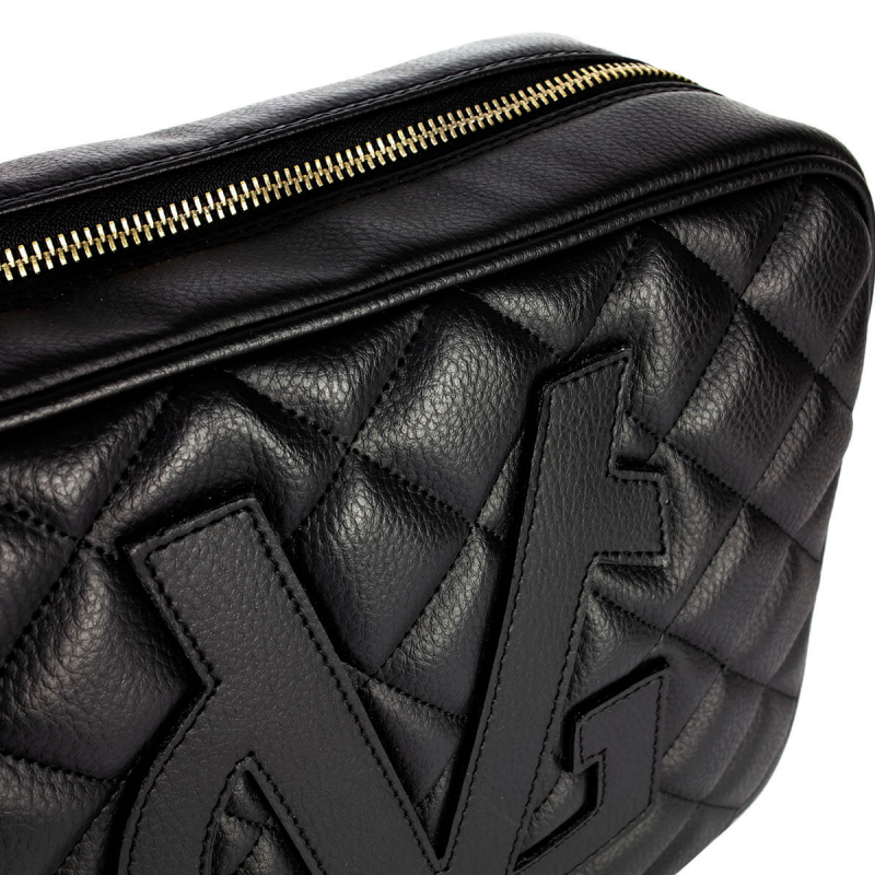 VG Shoulder big Soap Bag Quilted Black