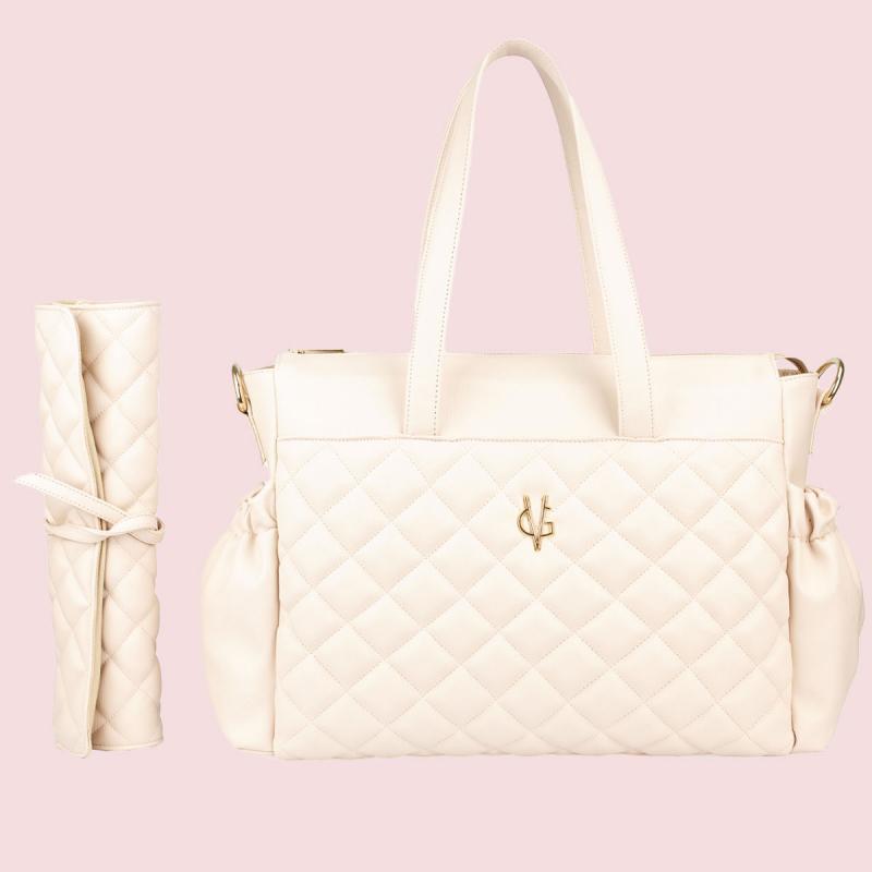 VG sac & matelas rose clair pour poussette