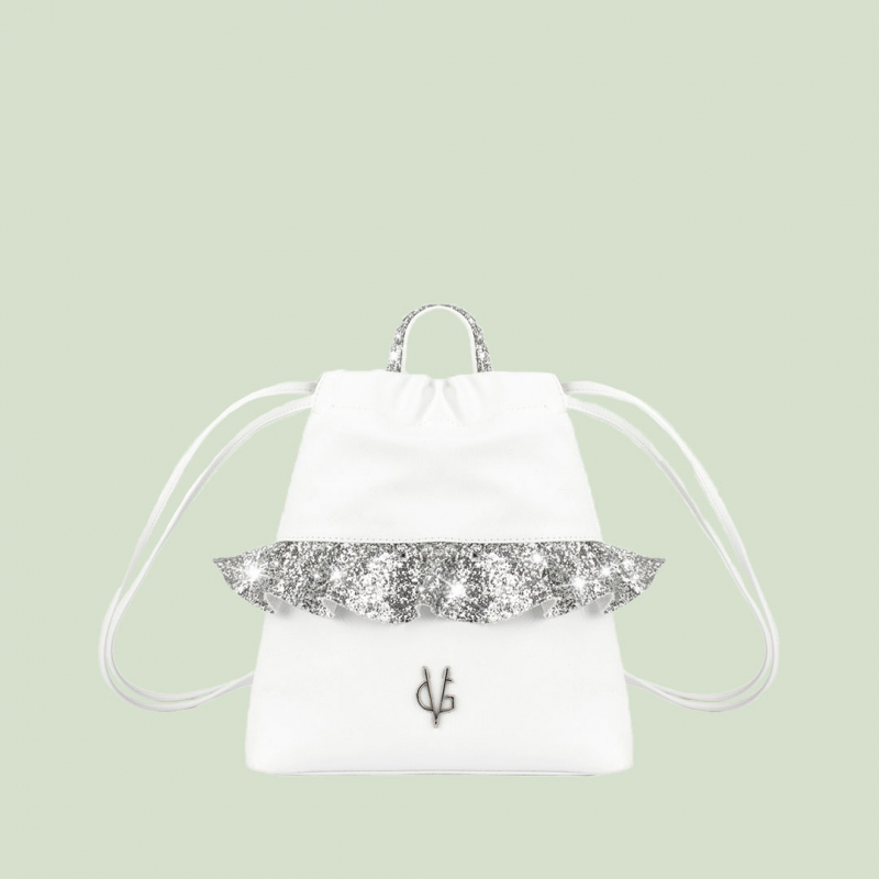 VG silver glitter rouches baby backpack