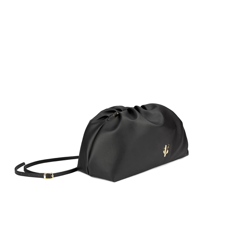 VG black big pouch bag