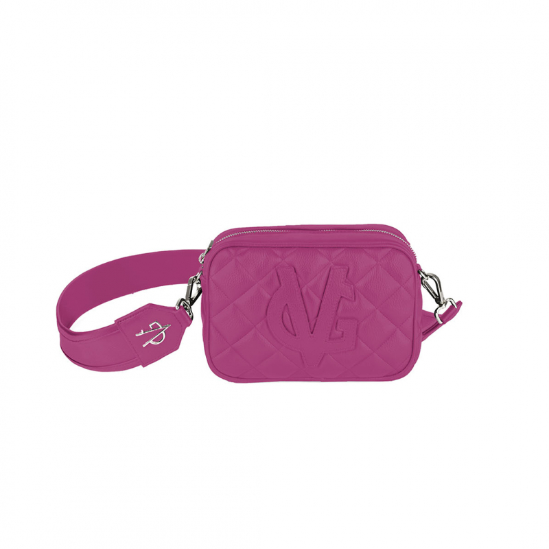 VG shoulder small soap bag quilted fuchsia