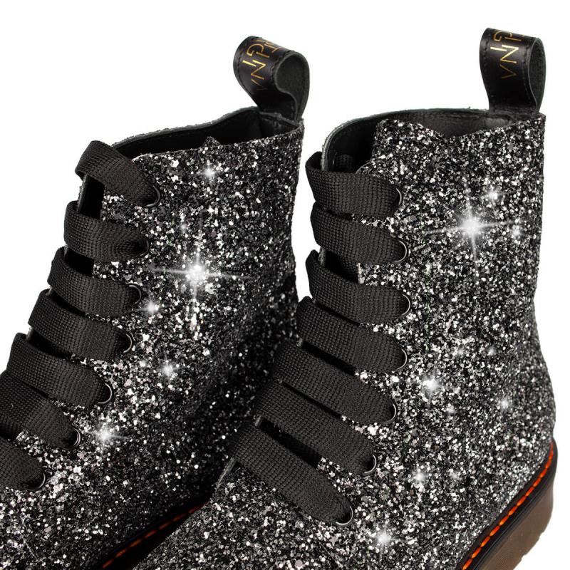 VG Boots glitter gris