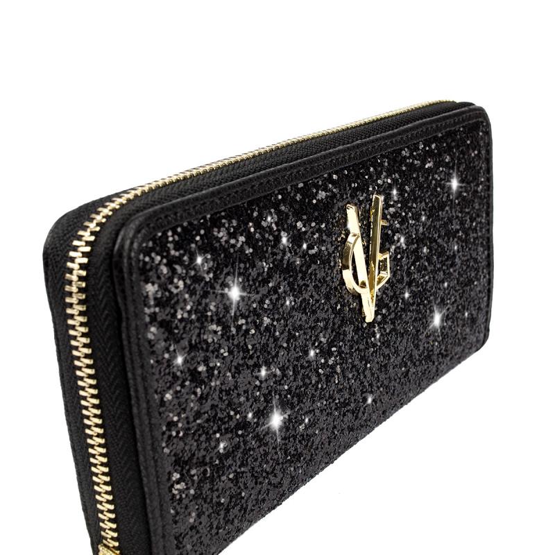 VG black glitter wallet