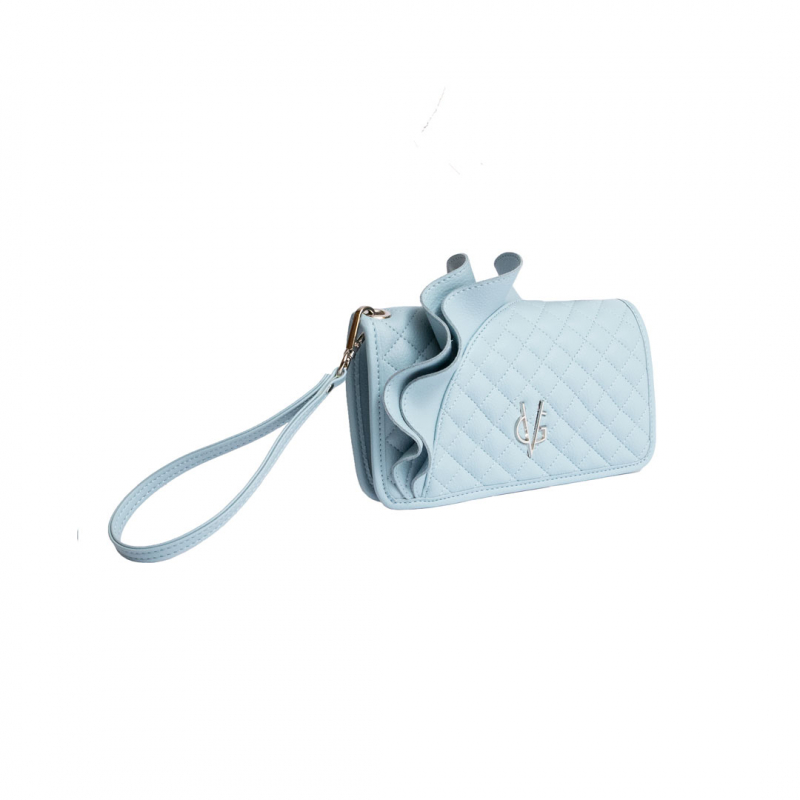 VG dusty blue rouches wallet