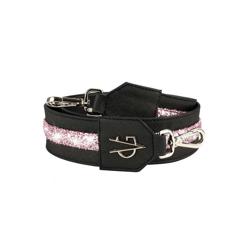 VG Pink glitter shoulder strap for customized bag
