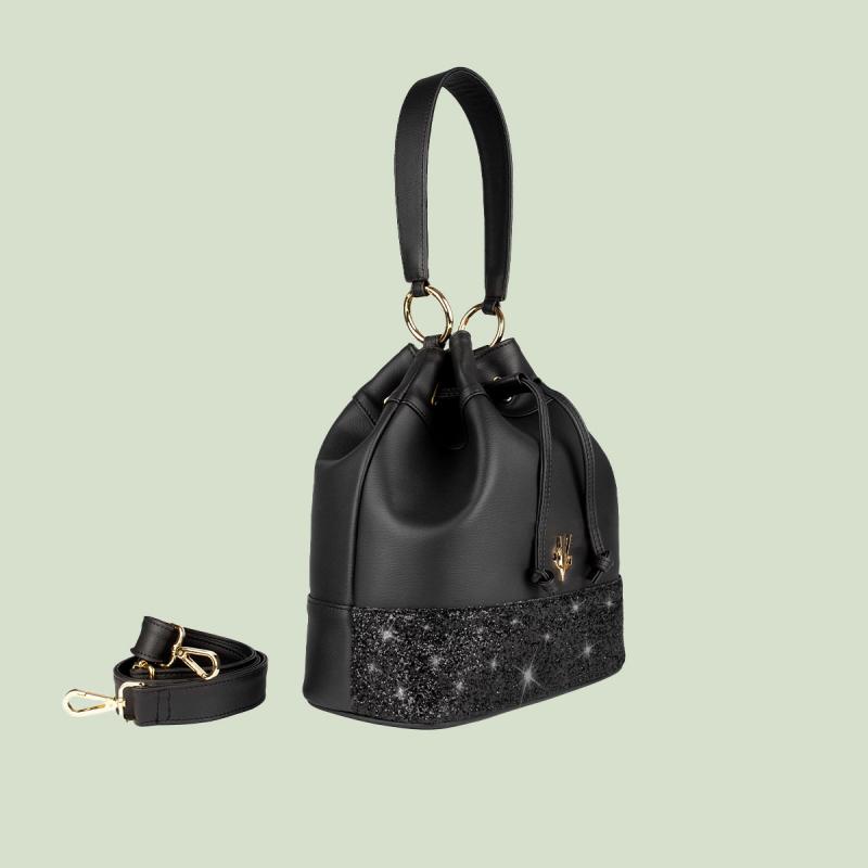 VG secchiello nero & glitter nero