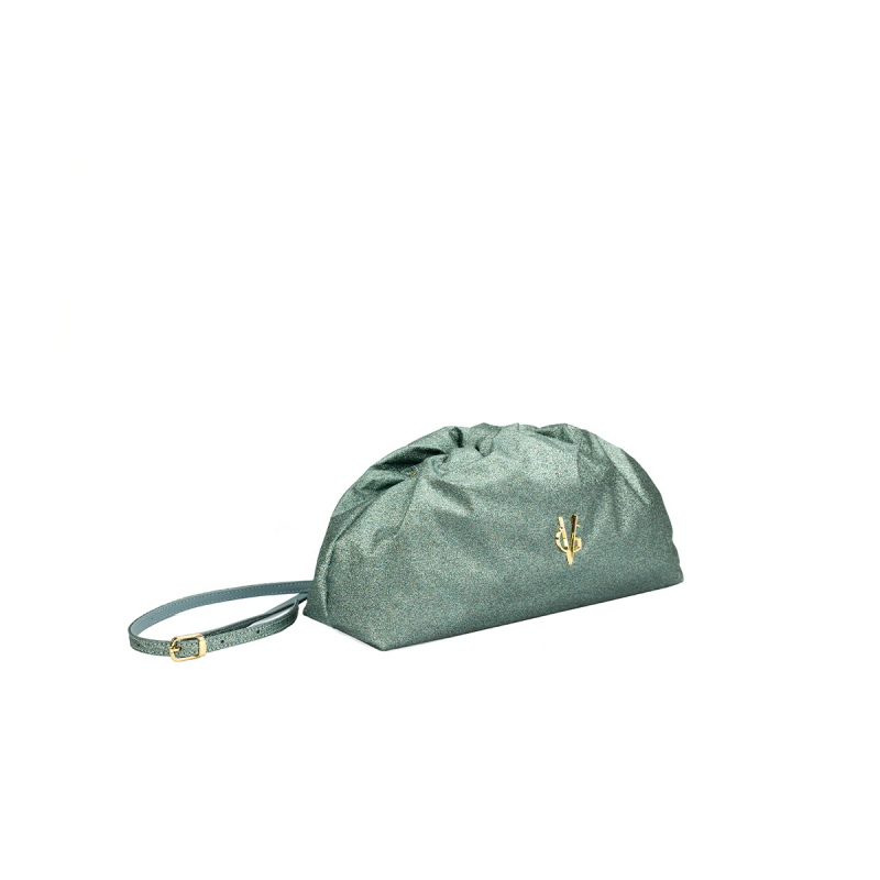 VG green sage glitter small pouch bag