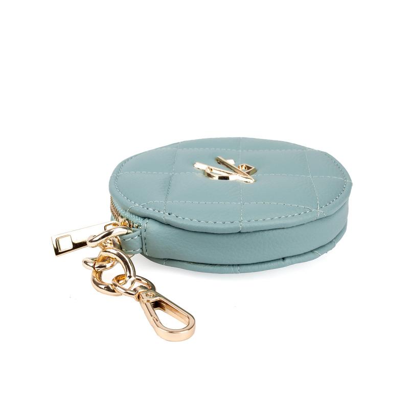 VG green sage round purse