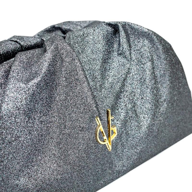 VG violet glitter big pouch bag