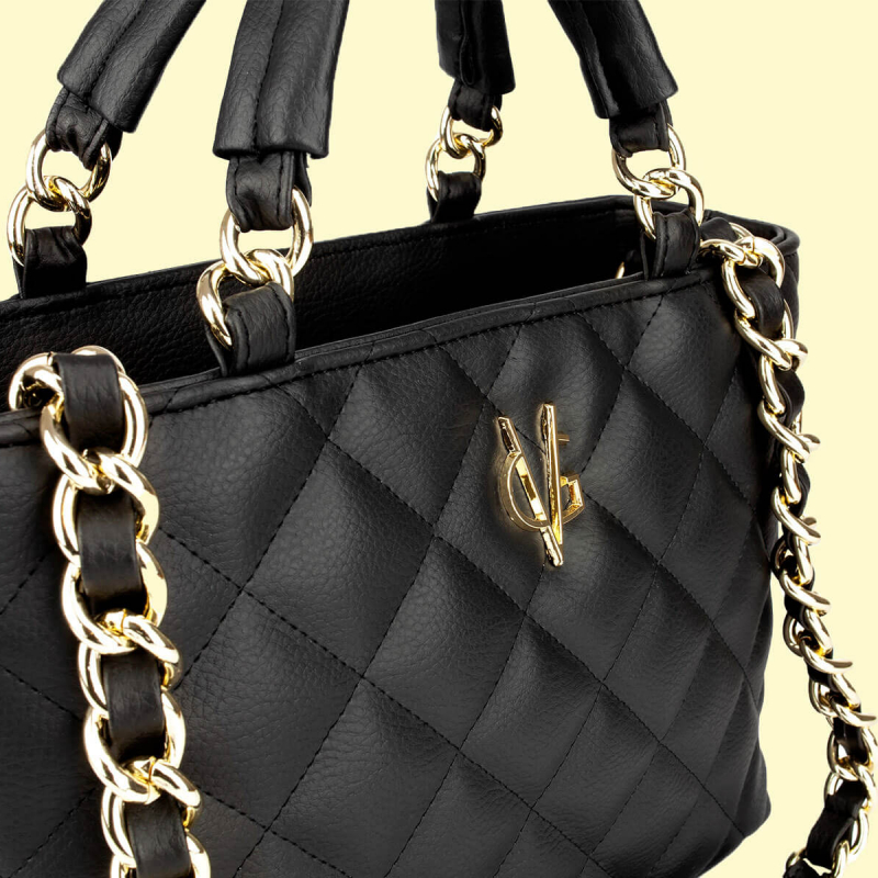 VG black quilted small bag