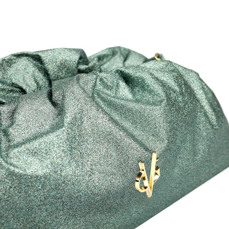 VG green sage glitter big pouch bag