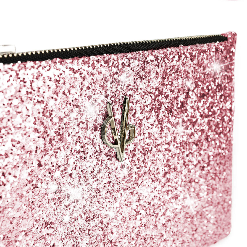 VG Glitter pink small pochette for customized bag