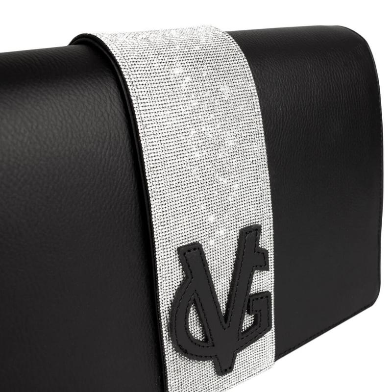 VG Clutch in cristalli nera