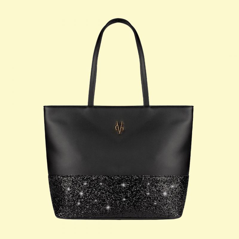 VG shopping noir & glitter noir