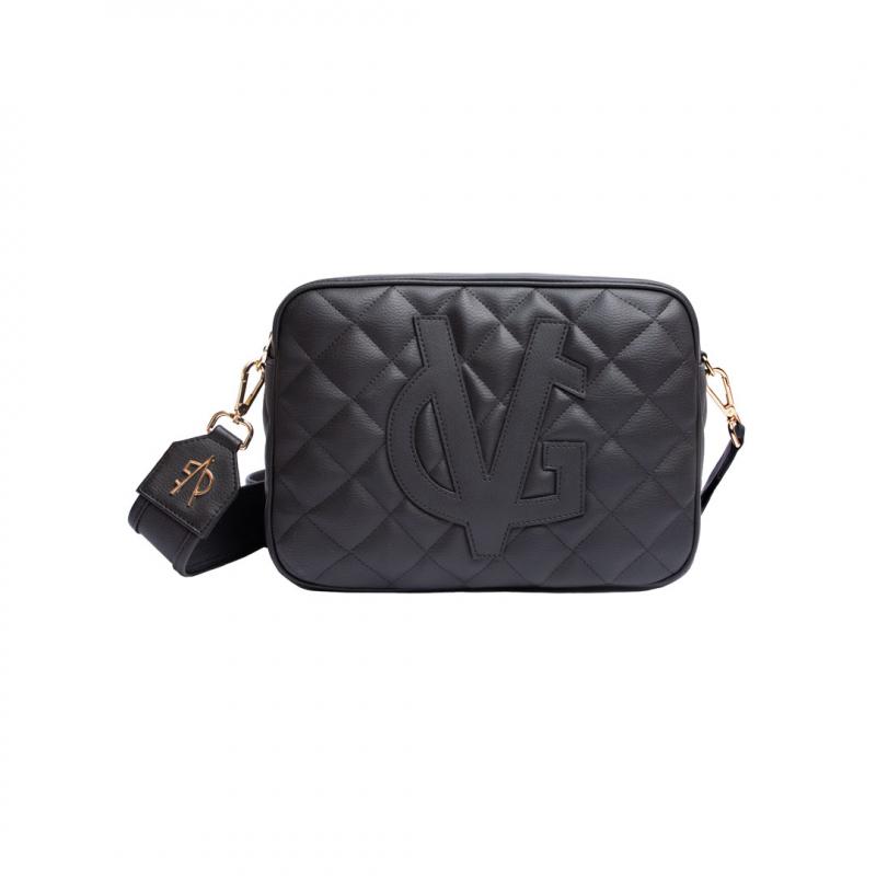 VG grand sac à bandoulière matelassé noir