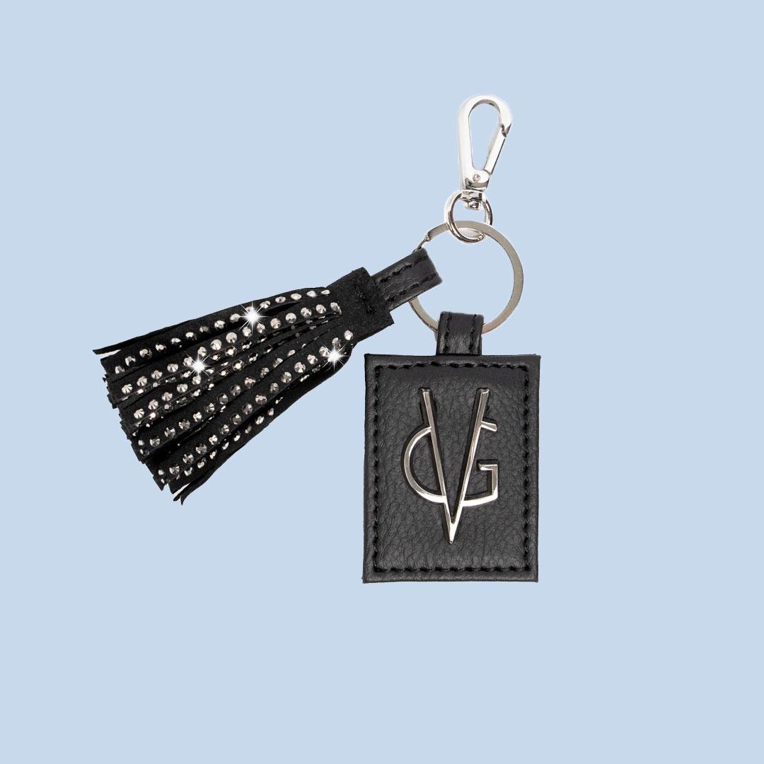 VG black Urban fringes keychain charm