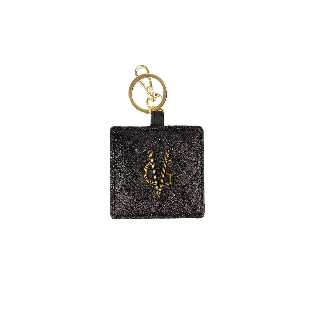 VG basic black glitter  keychain