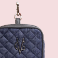 VG Charm jeans quilted coin purse