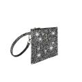 VG Petit pochette glitter gris pour le sac personnalisé