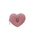 VG slim pink glitter heart coin purse