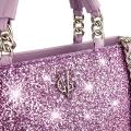 VG borsa a mano basic glitter lilla