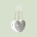 VG silver glitter big heart
