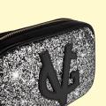VG petit sac à bandoulière savon noir & glitter gris