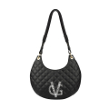 VG black quilted half-moon bag