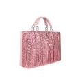 VG Pink fringed bag & pink glitter
