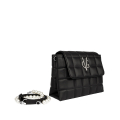 VG black quilted shoulder bag with pearls