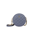 VG violet quilted small round bag