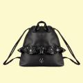 VG black glitter rouches backpack