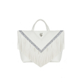 VG30 shopping blanc à franges