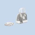 VG borsa Bugatti piccola glitter argento