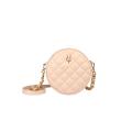 VG petit sac à bandoulière rond matelassé rose clair