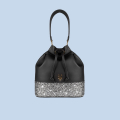 VG black bucket bag & grey glitter